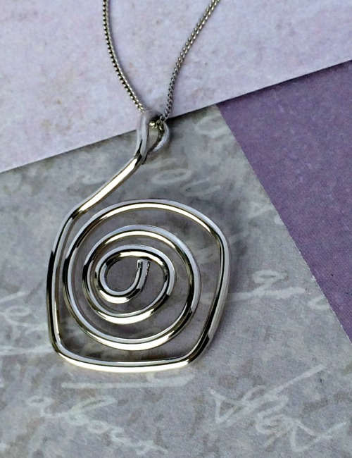 b0a7e9684 Chunky Silver necklace Spiral| Handmade silver necklaces