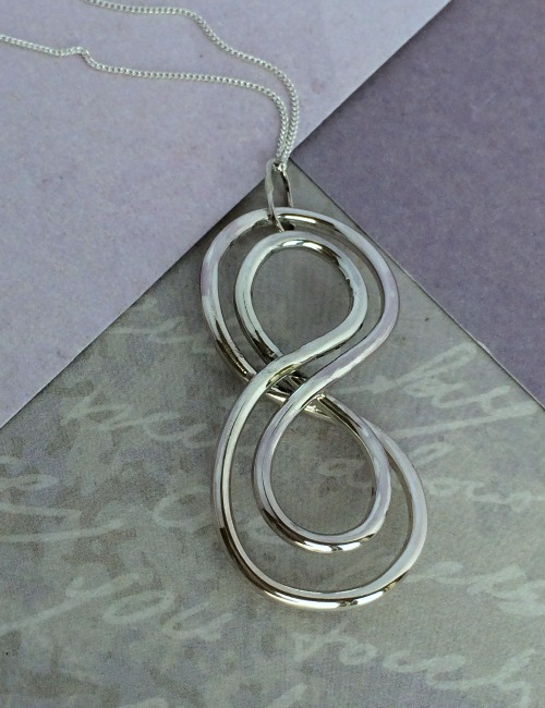 Handmade silver necklace unusual silver necklace homenecklacessilver wire double spiral pendant aloadofball Image collections